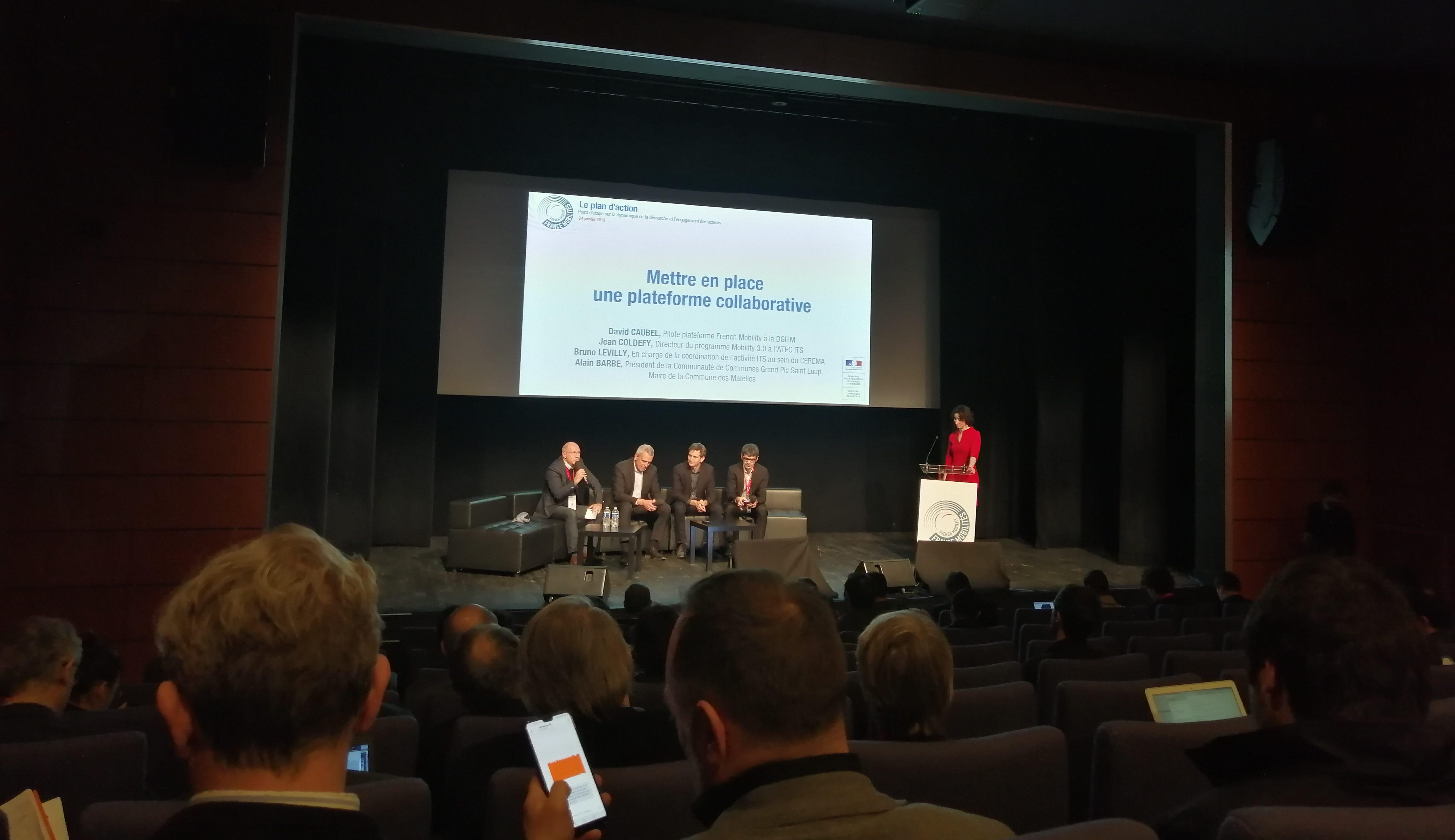 Le président Alain Barbe à l'annonce des résultats au Ministère des Transports le 24 janvier 2019. Photo : CCGSPL