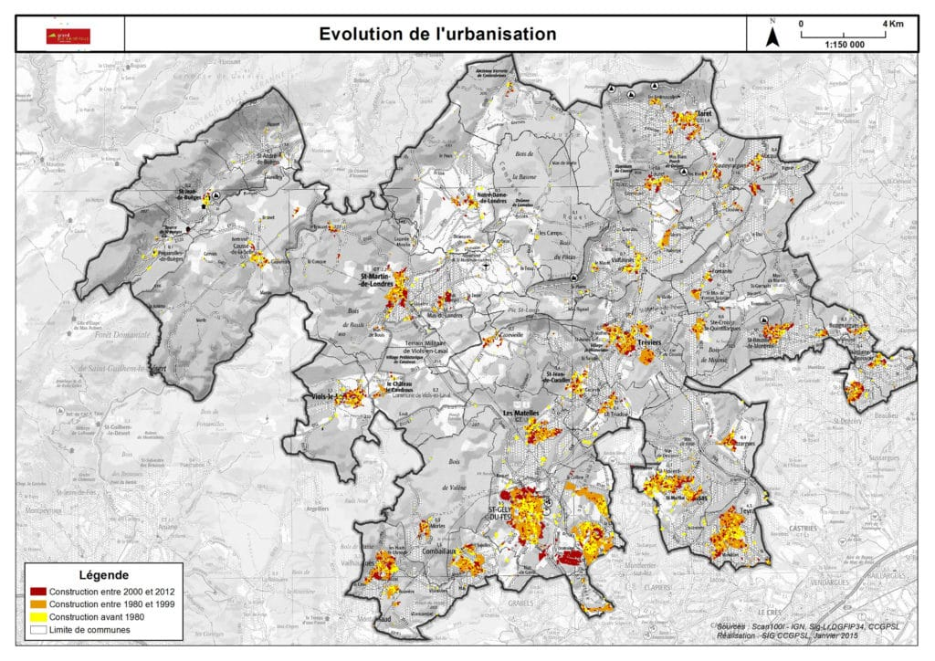 Evolution de l'urbanisation