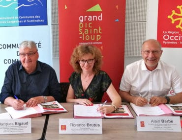 Signature du contrat territorial le 19 juillet 2019. Photo : CCGPSL