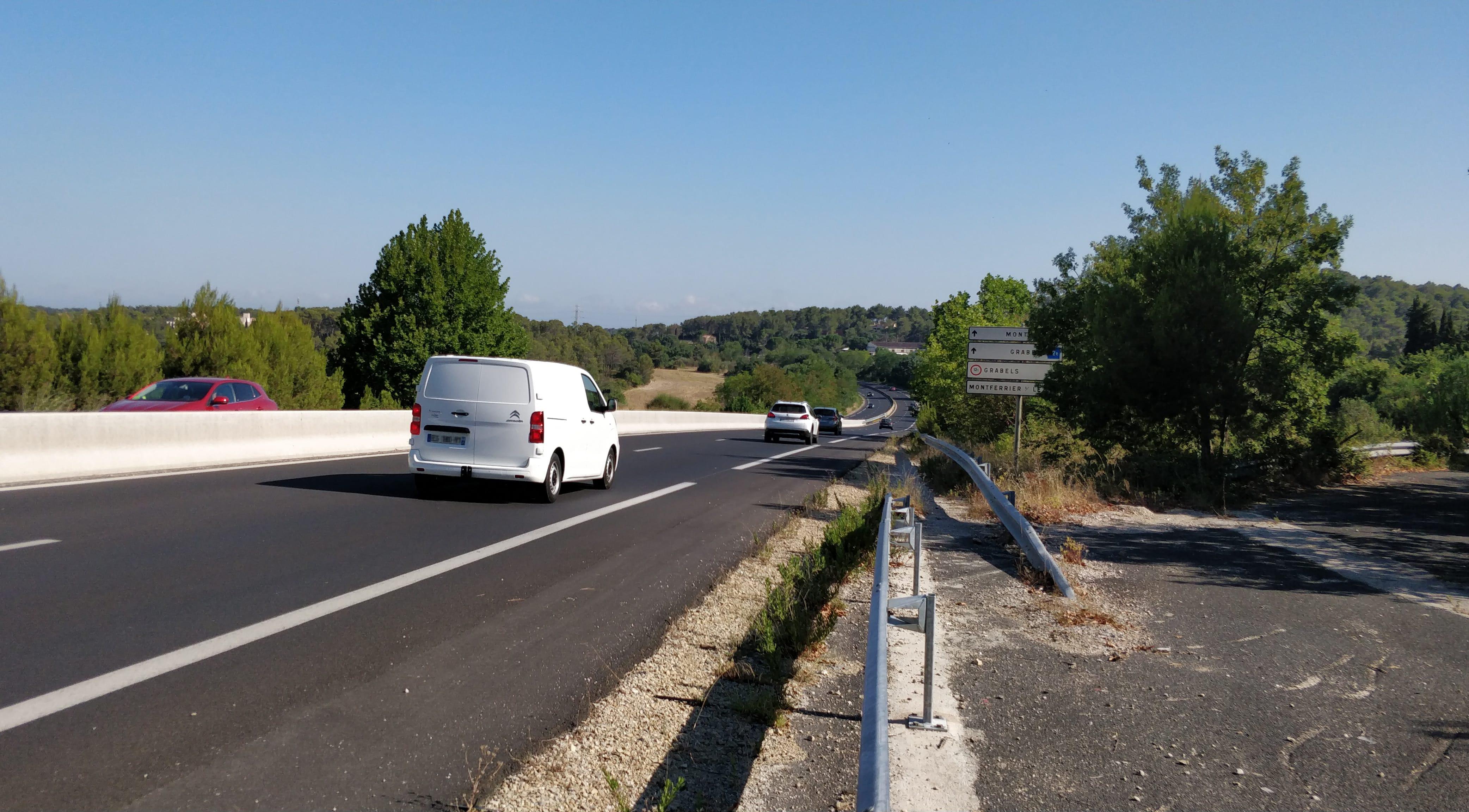 La double voie entre Saint-Gély-du-Fesc et Montpellier. Photo : Christophe Colrat