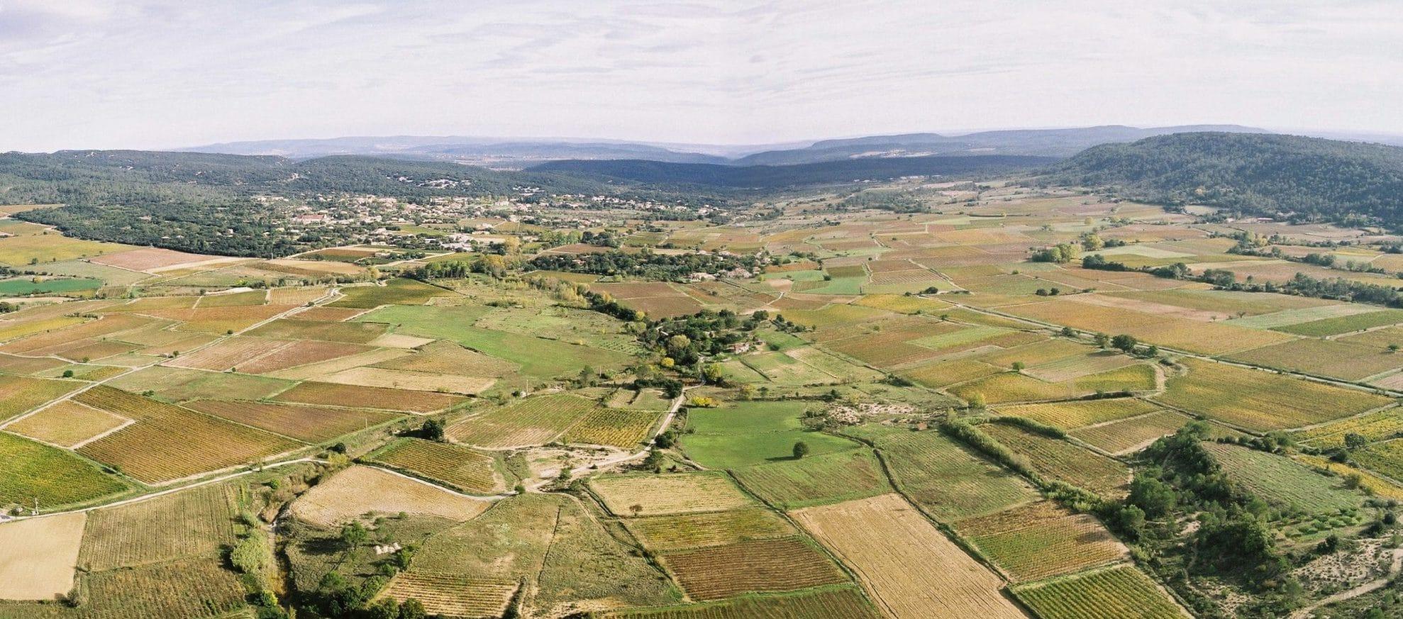 Vue aérienne de Claret. Photo : Olivier Mériguet