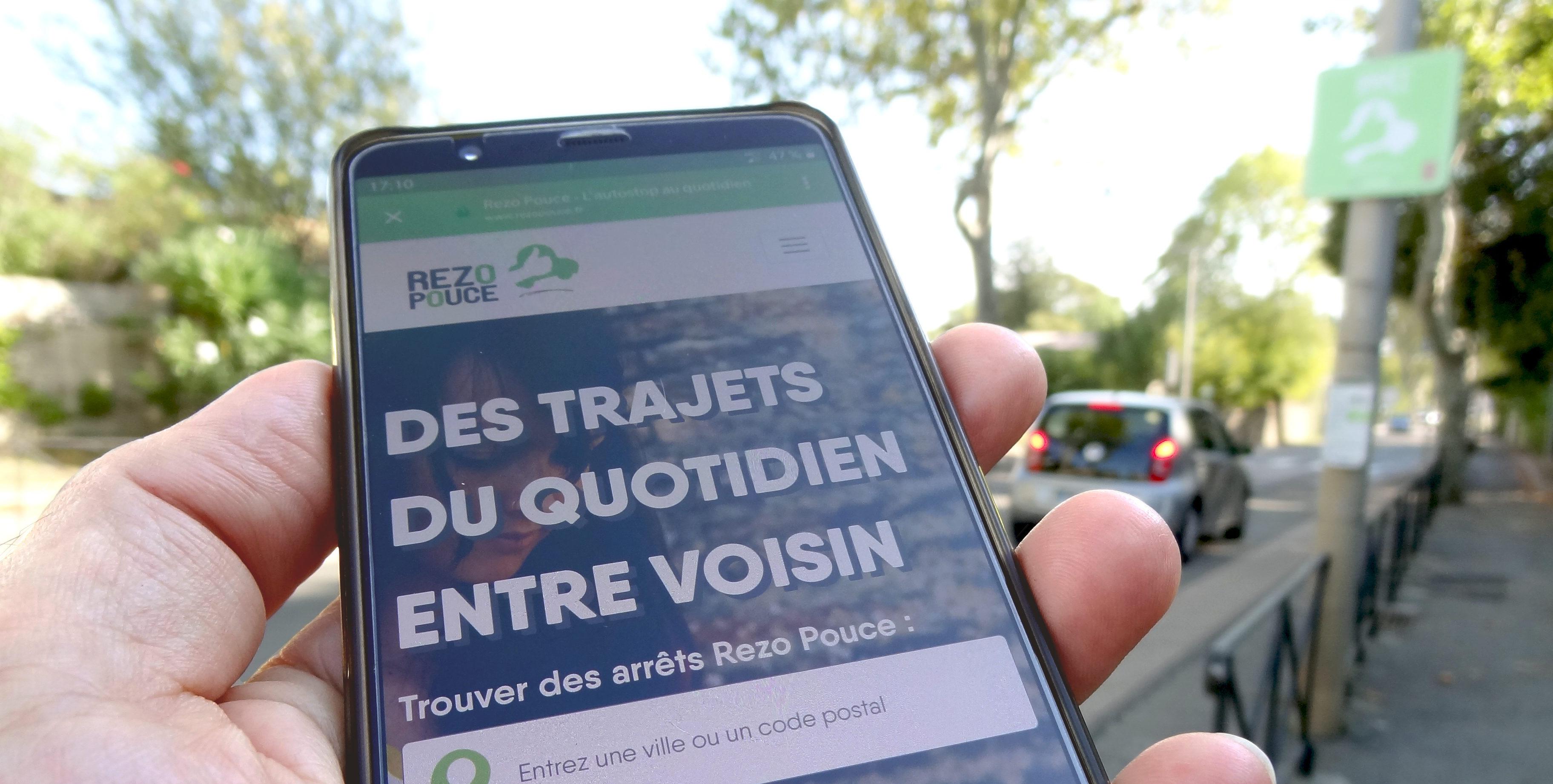 Rezo Pouce a lancé sa nouvelle appli. Photo : Christophe Colrat
