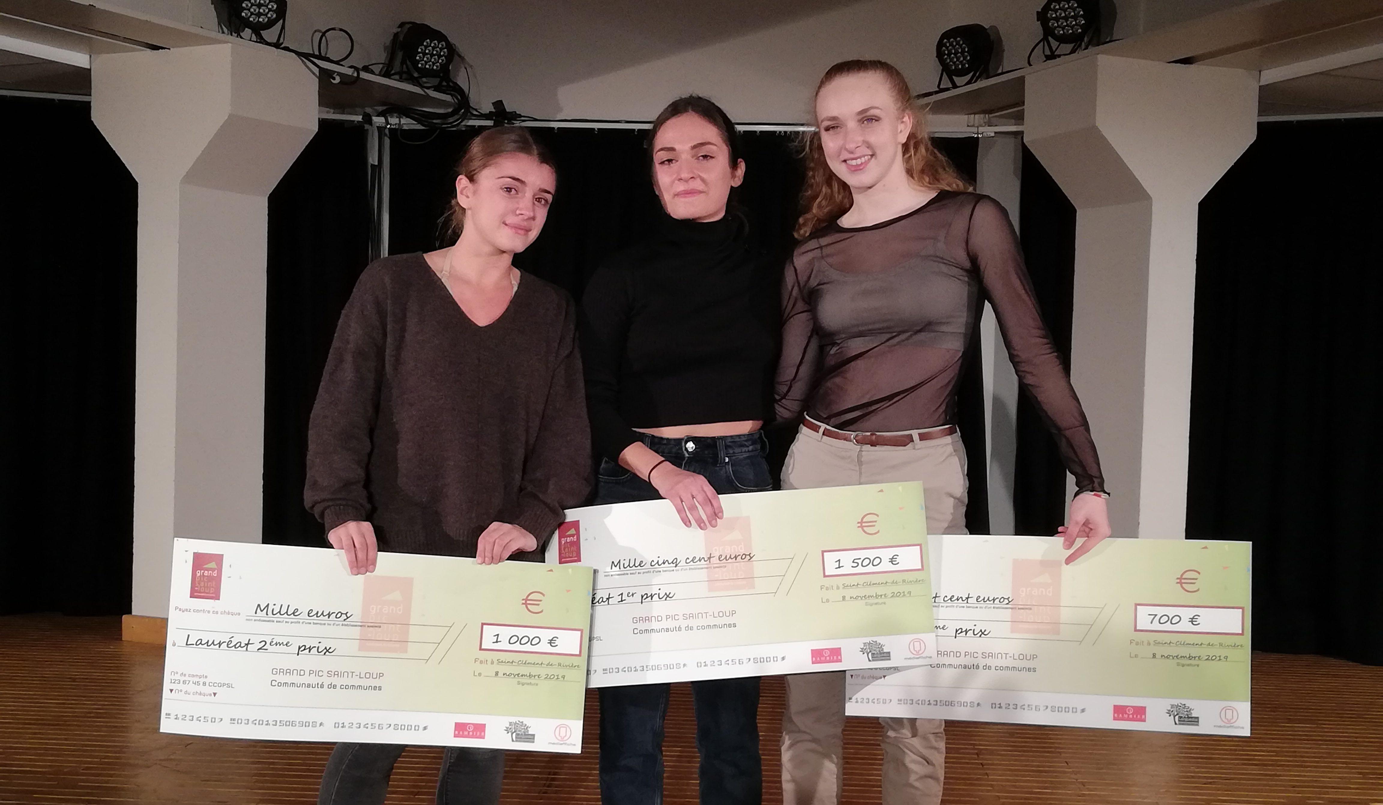 Le podium de la 3ème édition d'A pas de Loup. Photo : Coralie Pagès-Bouet