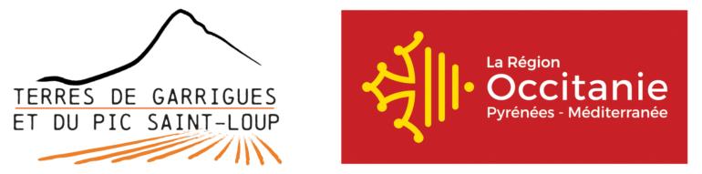 Logos Terres de Garrigues et Région Occitanie