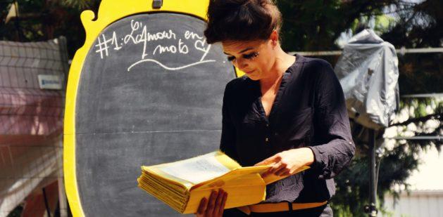 Leçon1 L'Amour en Mots. Photo : Cie Le Thyase