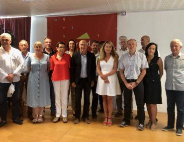 Alain Barbe et les 14 vice-présidents. Photo : CCGPSL