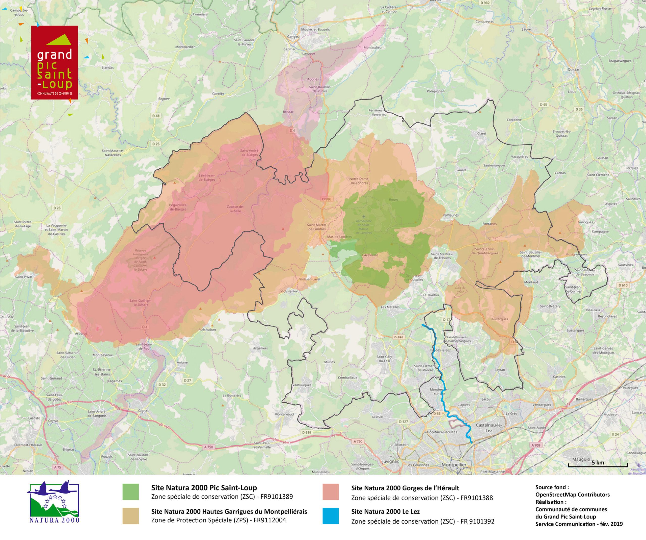 Les 4 sites Natura 2000 du Grand Pic Saint-Loup