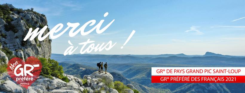 """Le GRP® Tours dans le Grand Pic Saint-Loup élu """"GR® préféré des Français 2021"""""""