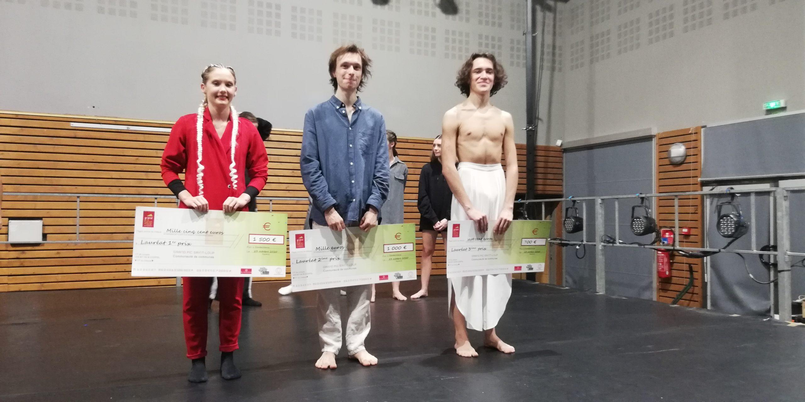 Le podium de la 4e édition d'A pas de Loup. Photo : Coralie Pagès-Bouet