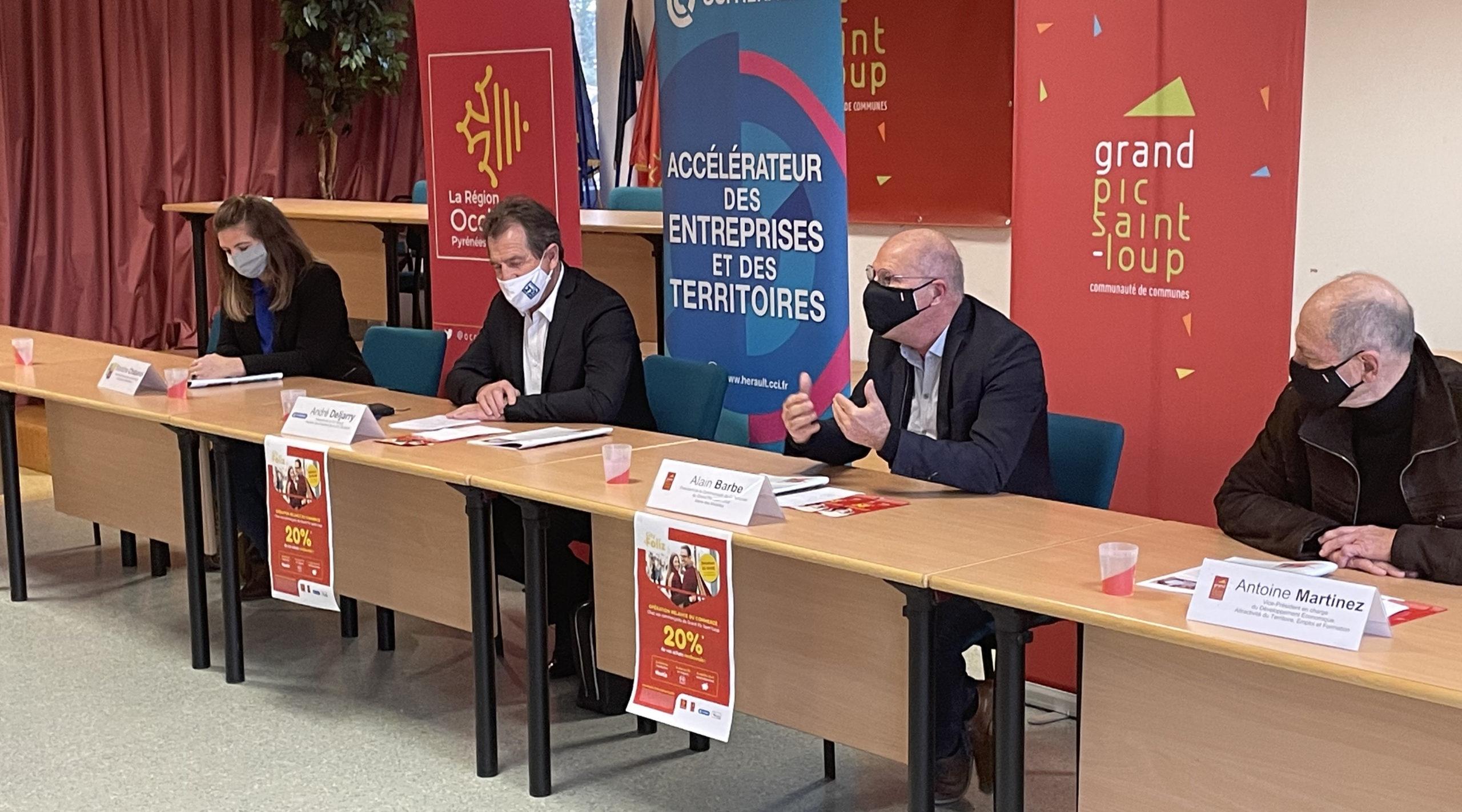 De g. à d. : Blandine Chabanol, André Deljarry, Alain Barbe, Antoine Martinez. Photo : CCGPSL