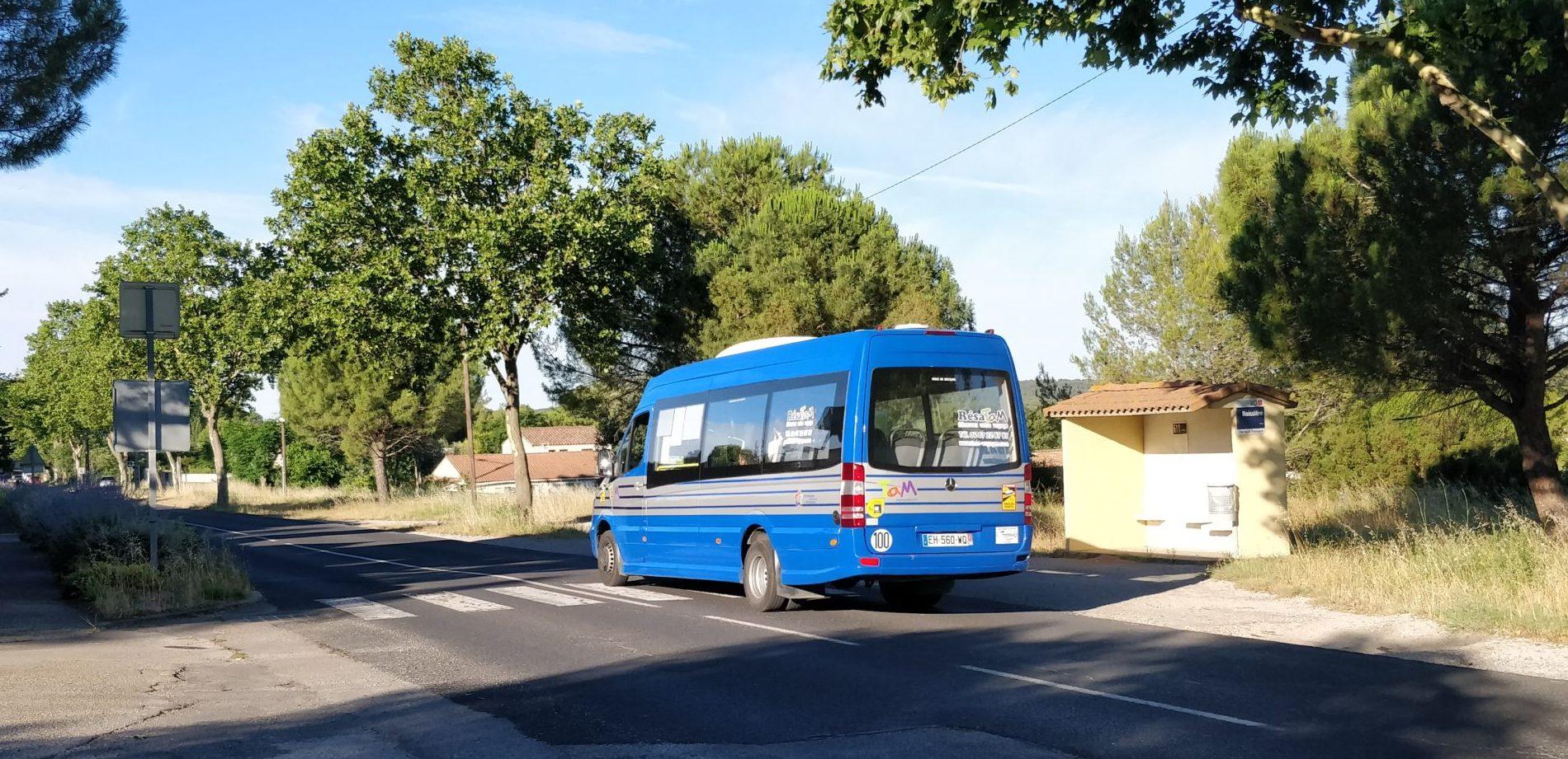 """L'arrêt """"La Boissière"""" à Teyran. Photo : Christophe Colrat"""