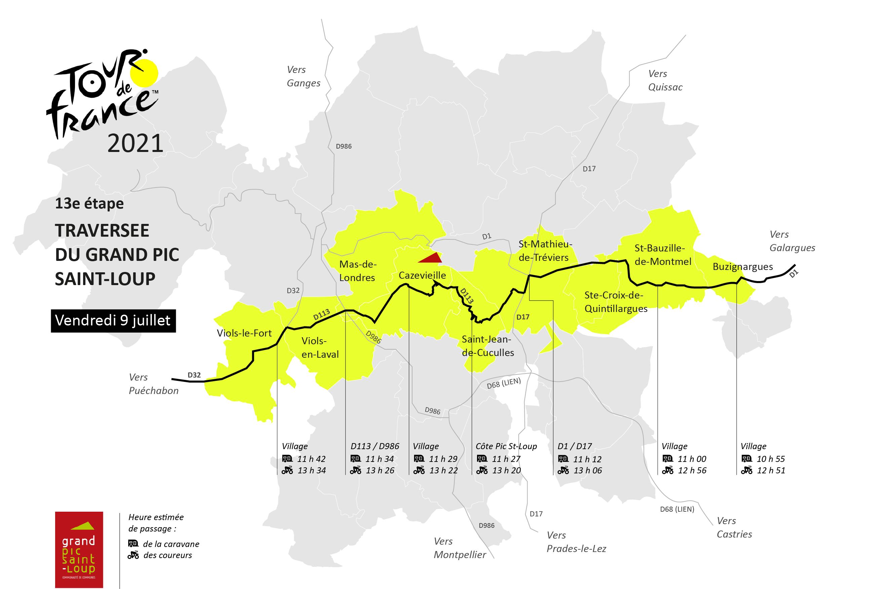 9 juillet 2021 - Heures et lieux de passage du Tour de France 2021
