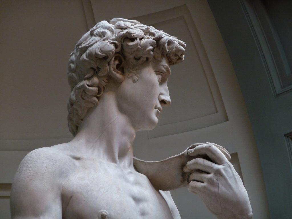 """""""David"""", de Michel-Ange 1501-1504). Photo : Jörg Bittner Unna / Wiki Commons"""