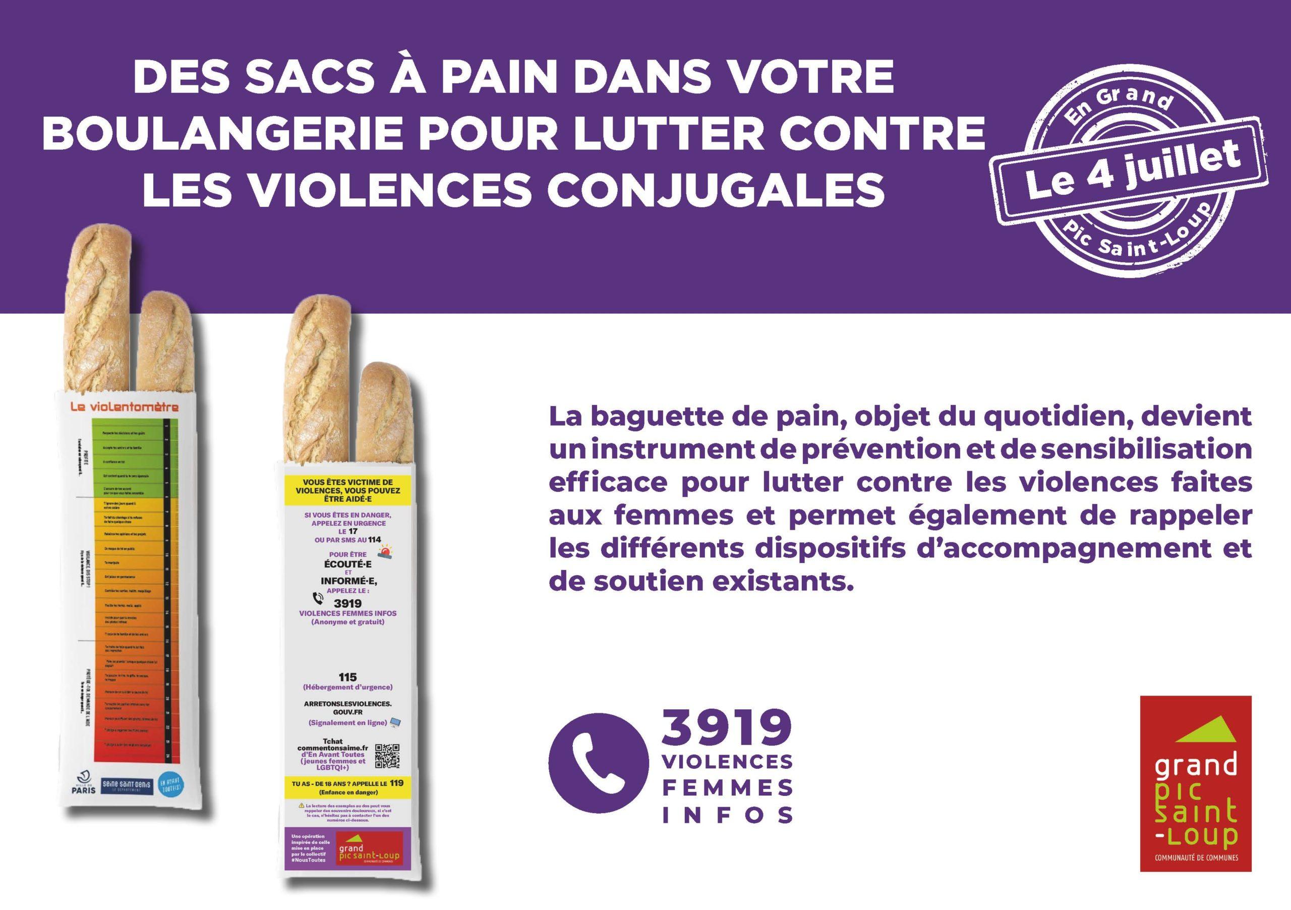 Des sacs à pain pour lutter contre les violences conjugales