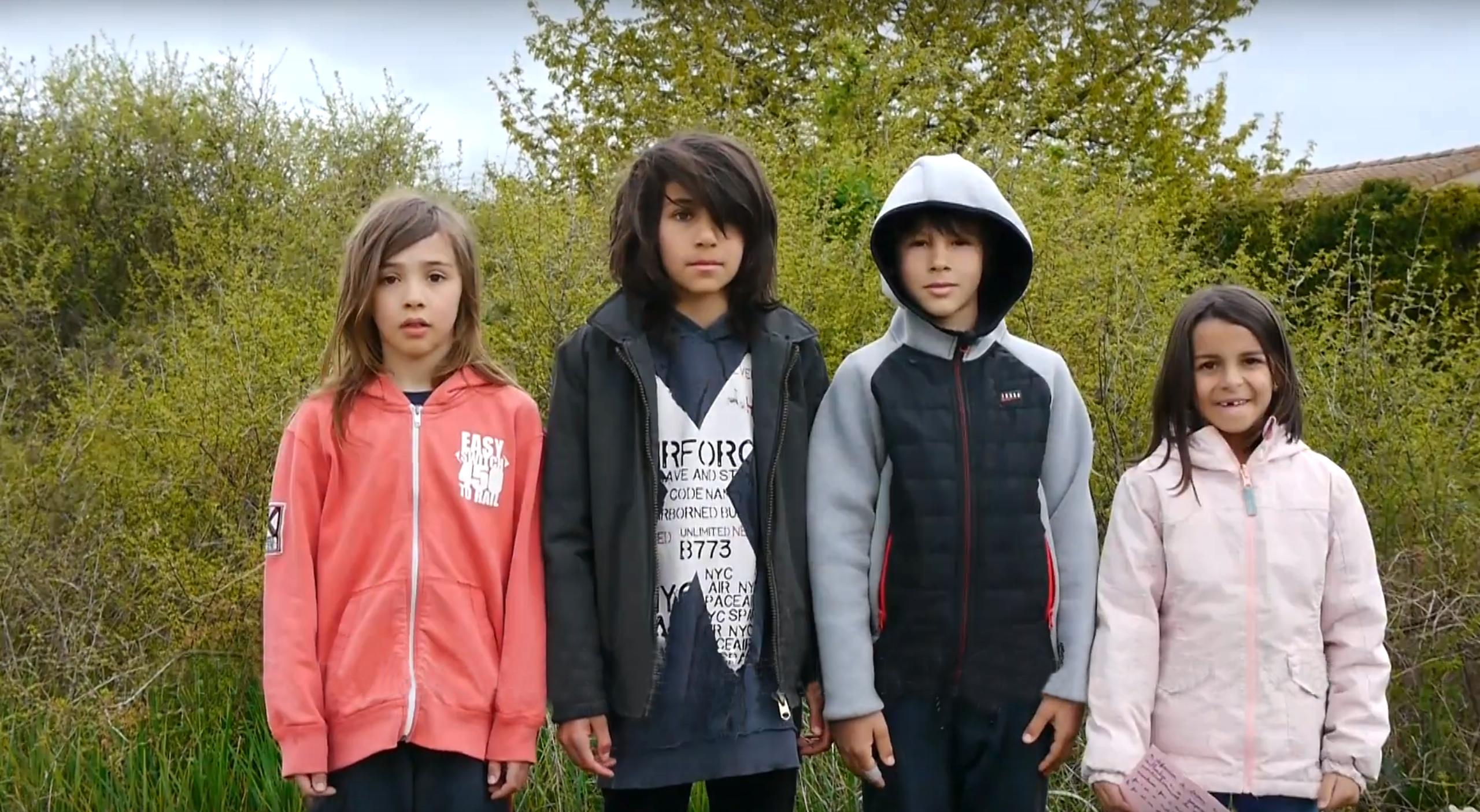Lilo, Timothé, Gaëtan et Clémentine. Photo : DR