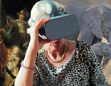 Cet automne, les seniors découvrent la réalité virtuelle. Photo : DR